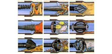 Основные виды насадок для сантехнических тросов